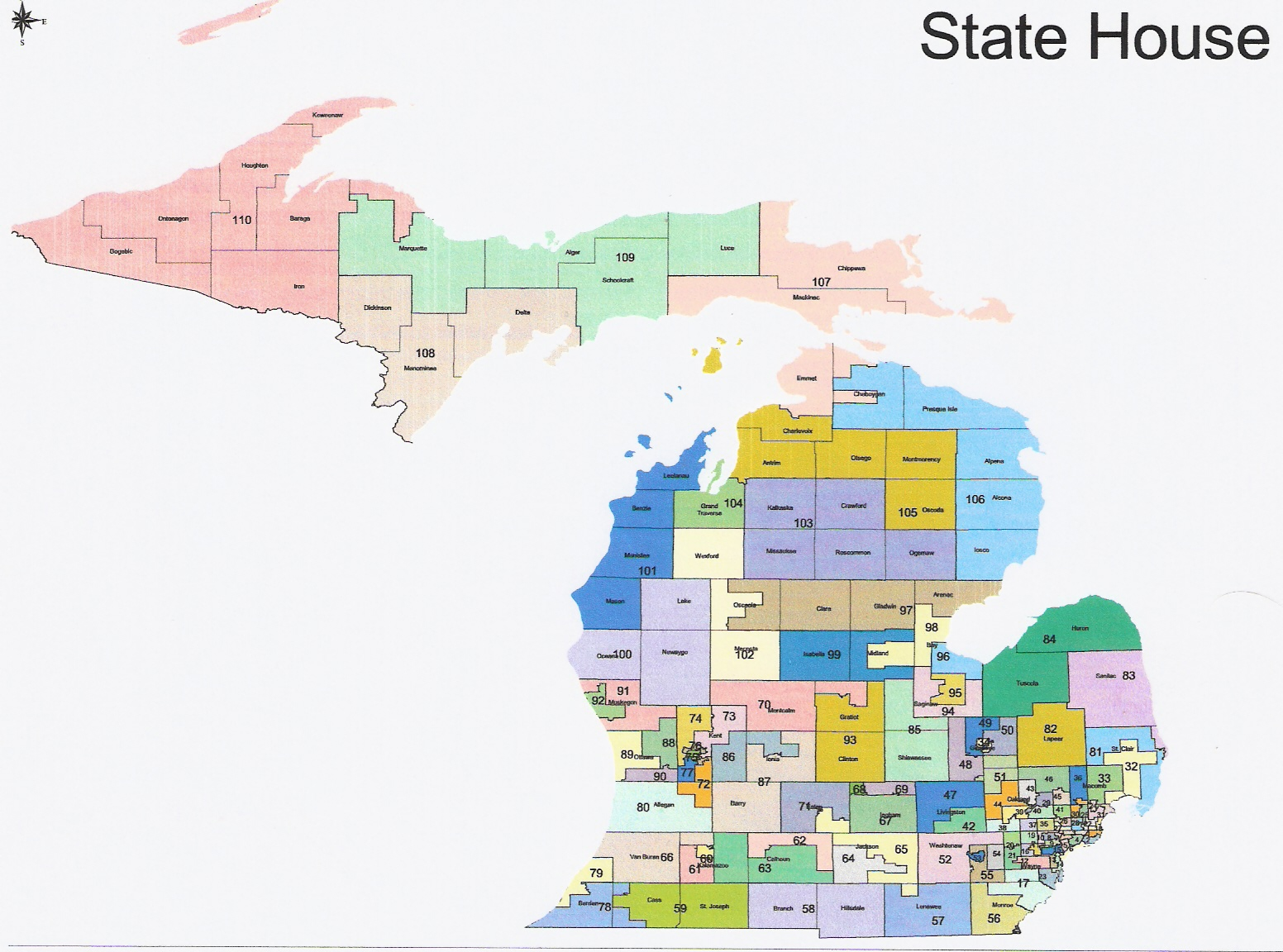 RightMichigancom Michigan Redistricting Official Republican - Map of the state of michigan