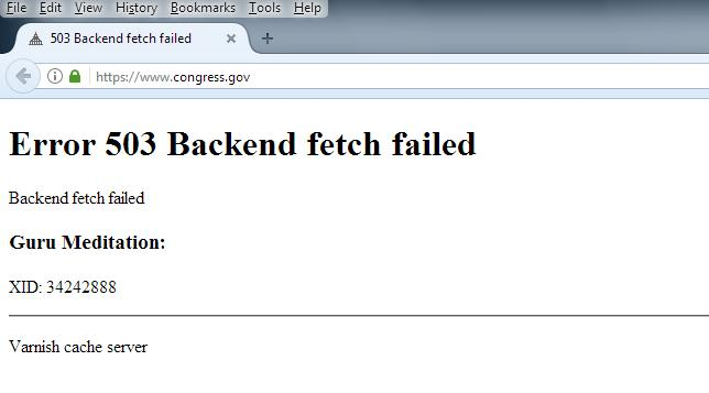 Congress Homepage Screenshot